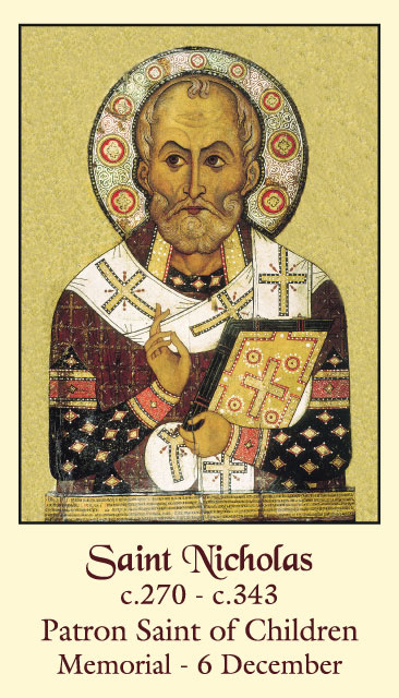 picture about St Nicholas Prayer Printable identified as St. Nicholas Prayer for Small children Holy Card